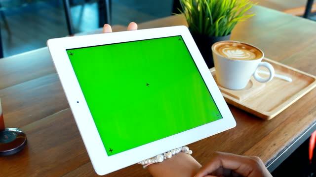 Green screen with coffee