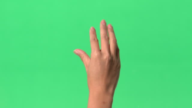 green screen - women's right index finger/thumb/hand on clear glass - pinching stock videos & royalty-free footage