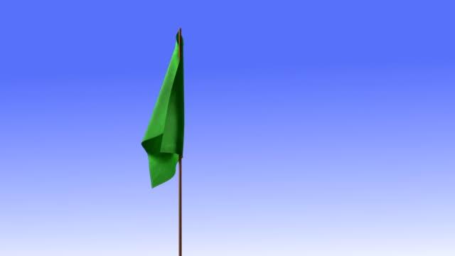 green signal flag