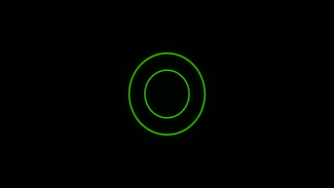 vídeos de stock e filmes b-roll de verde círculo loop com matte sonar - circle