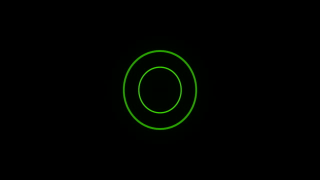 green sonar circle loop with matte - wave pattern stock videos & royalty-free footage