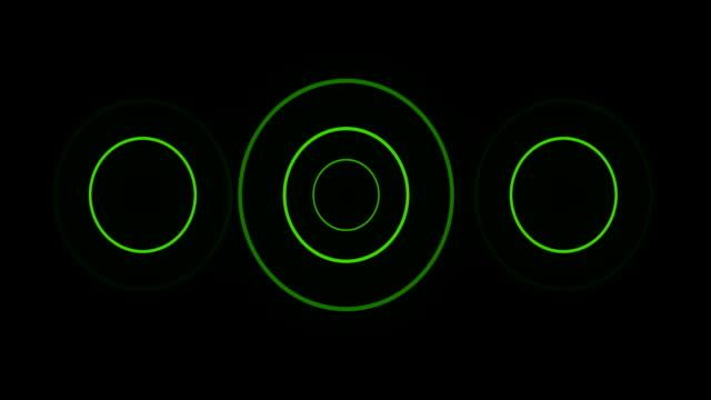 vídeos de stock e filmes b-roll de verde círculo loop com matte sonar - acabamento mate