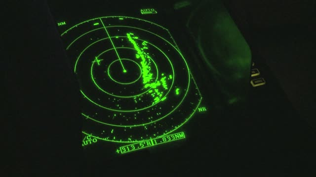 green sonar on a fishing vessel at night - radar stock videos & royalty-free footage
