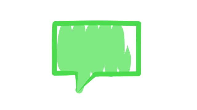green speech bubble - speech bubble stock videos & royalty-free footage