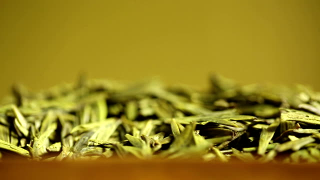 green tea. collage. - chinese tea set stock videos and b-roll footage