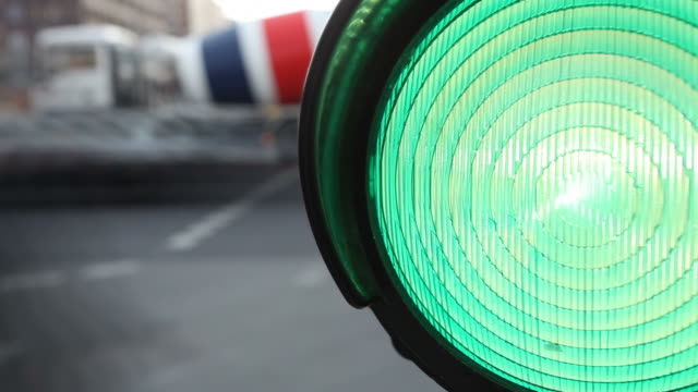 green traffic light - time lapse