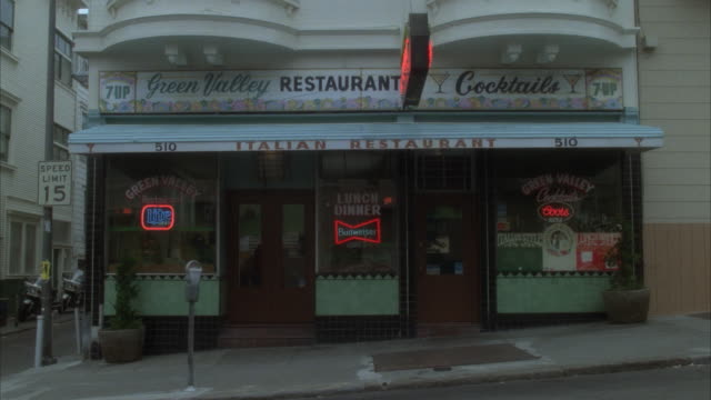 ms green valley restaurant exterior - italian culture stock-videos und b-roll-filmmaterial