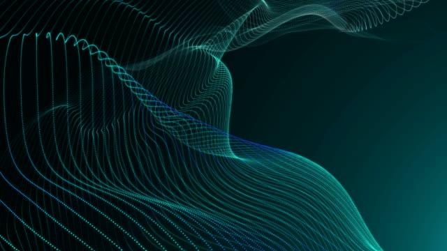 vídeos y material grabado en eventos de stock de olas verdes fondo - resolución de 4 k - wave