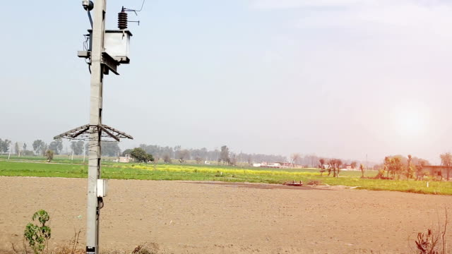 green wheat field, view from running passenger train - haryana stock videos & royalty-free footage