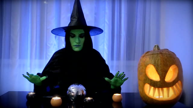 green witch, halloween - witch stock videos & royalty-free footage