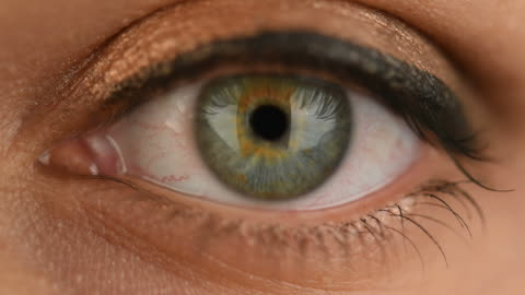green woman eye extreme close up - blinking stock videos & royalty-free footage