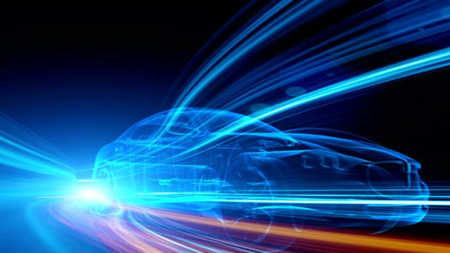 grün-auto - konzeptauto stock-videos und b-roll-filmmaterial