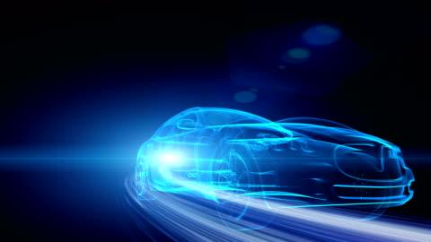 vídeos y material grabado en eventos de stock de coche verde - vehículo eléctrico