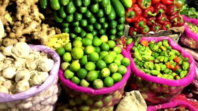 greengrocer shop, nuwara eliya central market, sri lanka - greengrocer's shop stock videos & royalty-free footage