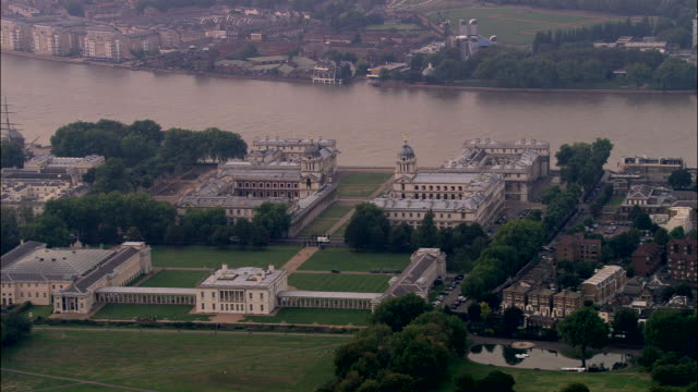 greenich palace and naval hospital - royal navy college greenwich stock videos & royalty-free footage