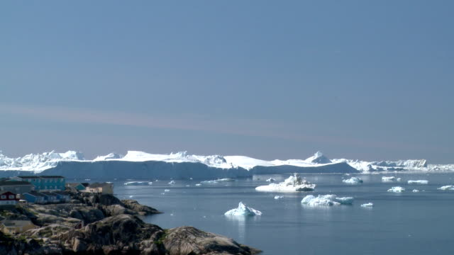 greenland disco bay - rock formation stock videos and b-roll footage
