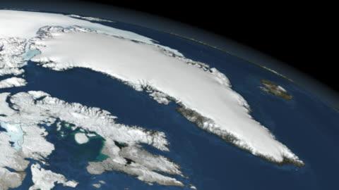 stockvideo's en b-roll-footage met greenland ice mass balance. - melting