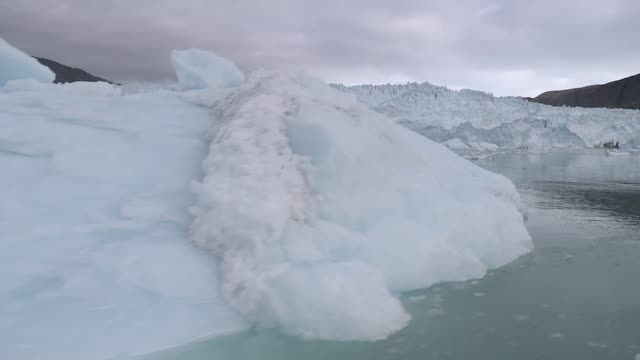 greenland's melting glaciers greenland ext gvs of melting glaciers ice floes - greenland stock videos & royalty-free footage