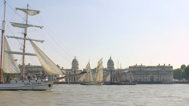 greenwich maritime museum tall ships regatta - regatta stock videos & royalty-free footage