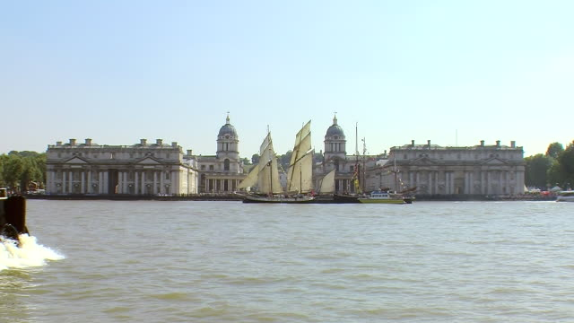 greenwich maritime museum - royal navy college greenwich stock videos & royalty-free footage