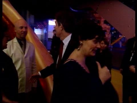 Millennium Dome GVs Prime Minister Tony Blair MP along with wife Cherie Blair for Millennium Eve celebrations