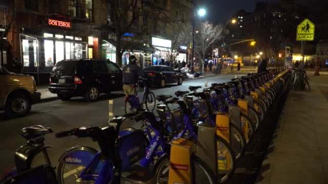 Greenwich Village NYC, Citi Bike Station, Carmine Street