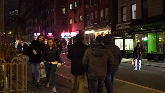 Greenwich Village NYC, MacDougal Street, People Out and About