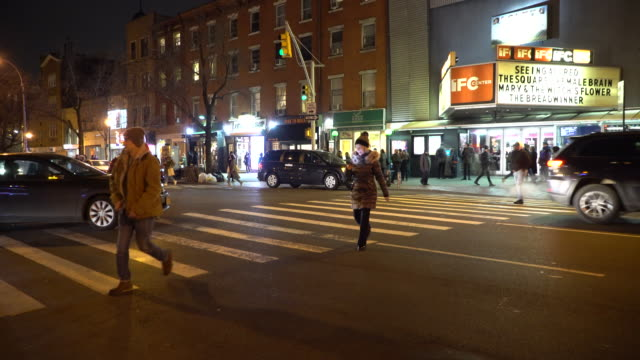 Greenwich Village NYC, Pedestrians Crossing Sixth Avenue