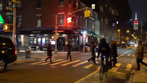greenwich village nyc, people out and about, macdougal street - greenwich village stock videos & royalty-free footage