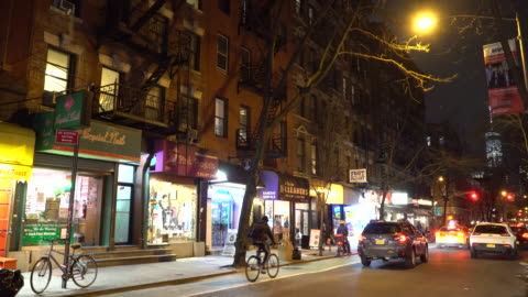 greenwich village nyc, restaurants & bars, old style buildings - greenwich village stock videos & royalty-free footage