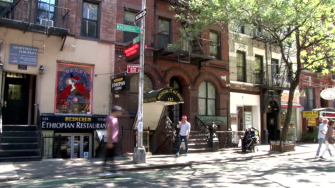 greenwich village nyc store fronts & apartments - macdougal street - greenwich village stock videos & royalty-free footage