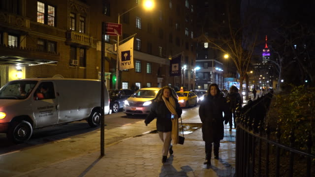 Greenwich Village NYC, Women Out And About At Night Near NYU