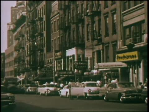1960 - greenwich village - cobblestone stock videos & royalty-free footage