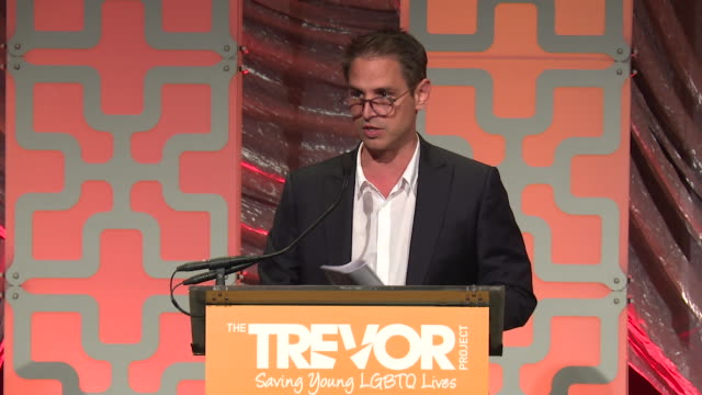 SPEECH Greg Berlanti speaks at The Trevor Project TrevorLIVE NY 2018 at Cipriani Wall Street on June 11 2018 in New York City