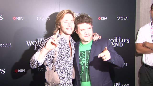 greg cipes, sean astin at ign & focus features celebrate the world's end party at comic-con 2013 on 7/18/2013 in san diego, ca. - sean astin stock videos & royalty-free footage