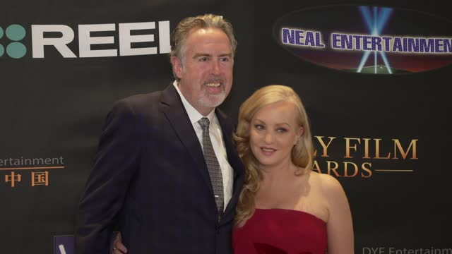 greg covey, wendi mclendon-covey at the 24th family film awards at hilton los angeles/universal city on march 24, 2021 in universal city, california. - universal city stock videos & royalty-free footage
