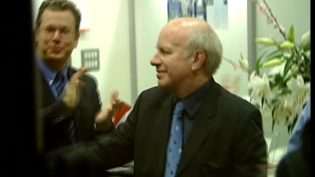 greg dyke appointed as new football association chairman t29010412 / tx london int greg dyke kissing and embracing colleagues as cheered and... - greg dyke stock videos & royalty-free footage