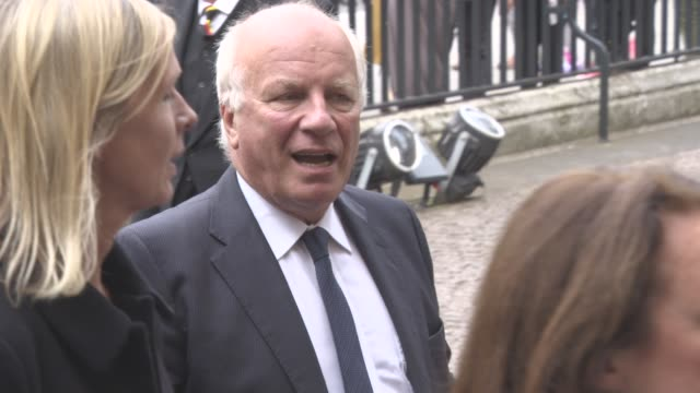 greg dyke at a service of thanksgiving for the life and work of sir terry wogan at westminster abbey on september 27 2016 in london england - terry wogan video stock e b–roll