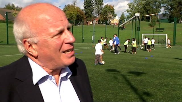 greg dyke launches grassroots football scheme in sheffield greg dyke interview sot - greg dyke stock videos & royalty-free footage