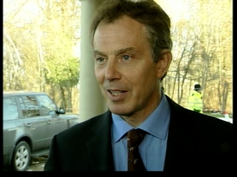 days event; itn ext tony blair mp speaking to press sot - i welcome very much the statement governors have made - this for me has always been very... - no doubt band stock videos & royalty-free footage