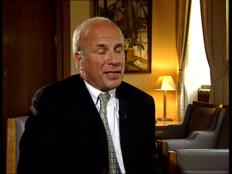 greg dyke new director general of bbc/political storm itn london greg dyke interview sot if you want to sustain british broadcasting industry will... - greg dyke stock videos & royalty-free footage