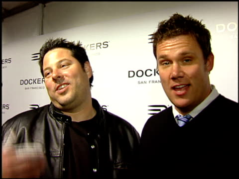 Greg Grunberg and Bob Guiney on Valentine's Day gifts at the Dockers Final Round at NULL in Los Angeles California on February 9 2008