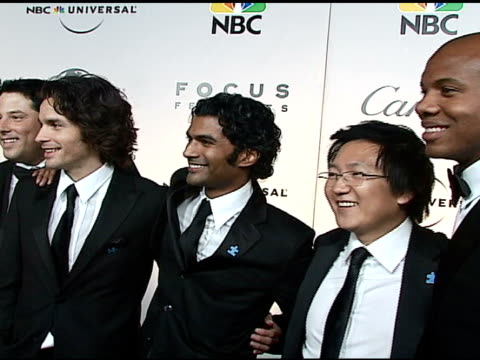 Greg Grunberg Santiago Cabrera Sendhil Ramamurthy Masi Oka and Leonard Roberts at the NBC Universal and Focus Features 2007 Golden Globes Party on...