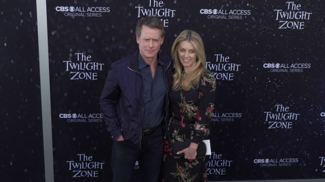 "greg kinnear and helen labdon at the premiere of ""the twilight zone' at the harmony gold preview house and theater on march 26, 2019 in hollywood,... - harmony gold preview theatre stock videos & royalty-free footage"