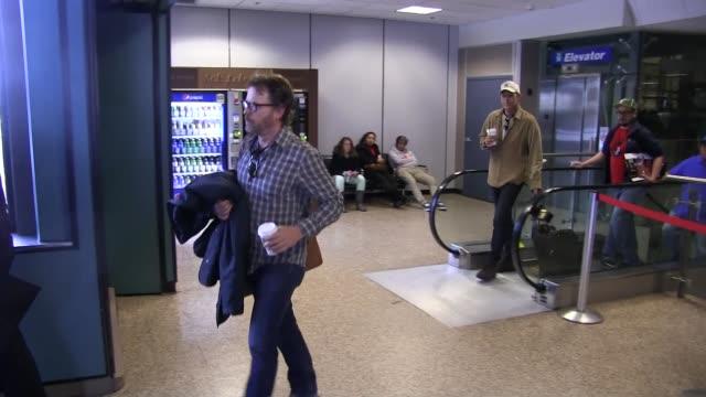 Greg Kinnear arrives at Salt Lake City Airport for the Sundance Film Festival in Celebrity Sightings in Park City UT