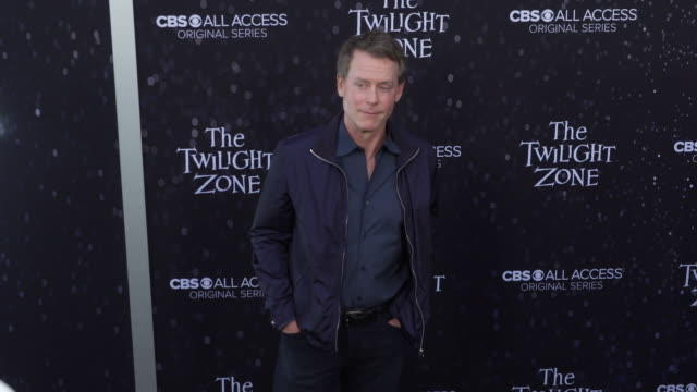 "greg kinnear at the premiere of ""the twilight zone' at the harmony gold preview house and theater on march 26, 2019 in hollywood, california. - harmony gold preview theatre stock videos & royalty-free footage"