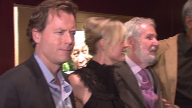 Greg Kinnear Radha Mitchell Robert Benton Morgan Freeman and Jane Alexander at the New York screening of 'Feast of Love' at Dolby 88 Screening Room...
