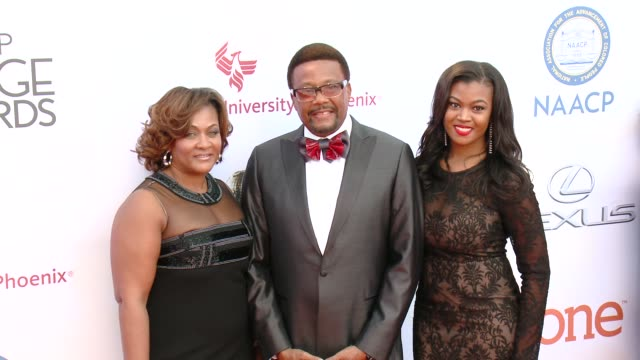 stockvideo's en b-roll-footage met greg mathis at the 46th annual naacp image awards arrivals at pasadena civic auditorium on february 06 2015 in pasadena california - pasadena civic auditorium