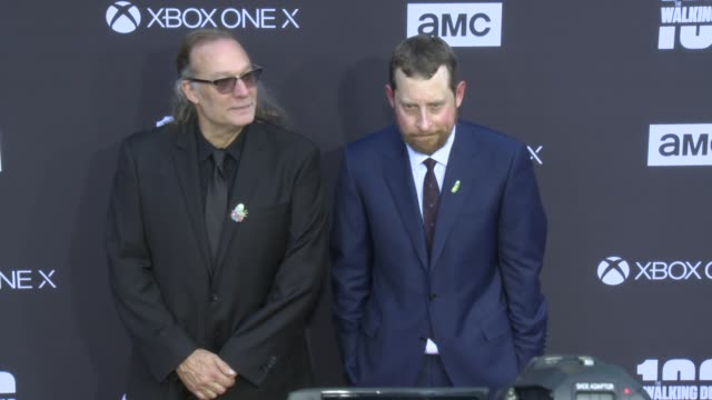 Greg Nicotero and Scott M Gimple at the AMC's The Walking Dead 100th Episode Season 8 Special Premiere Screening at The Greek Theatre on October 22...