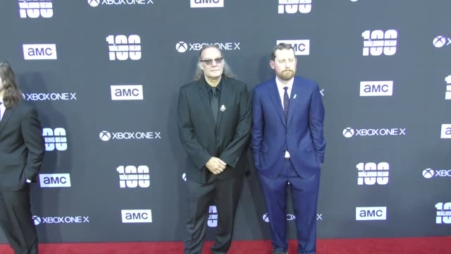 Greg Nicotero Scott M Gimple at AMC's The Walking Dead 100th Episode Season 8 Special Premiere Screening at The Greek Theatre on October 22 2017 in...